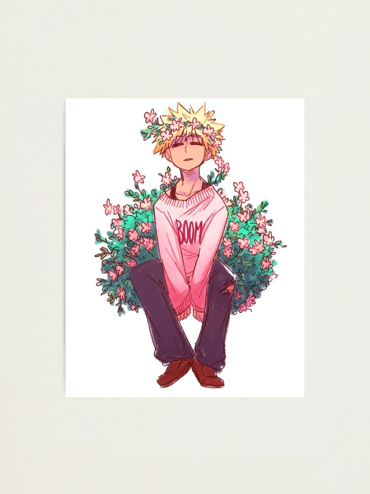 Bakugou In Pink Photographic Print By Saisaichan Redbubble