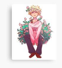 Bakugou in Pink Metal Print