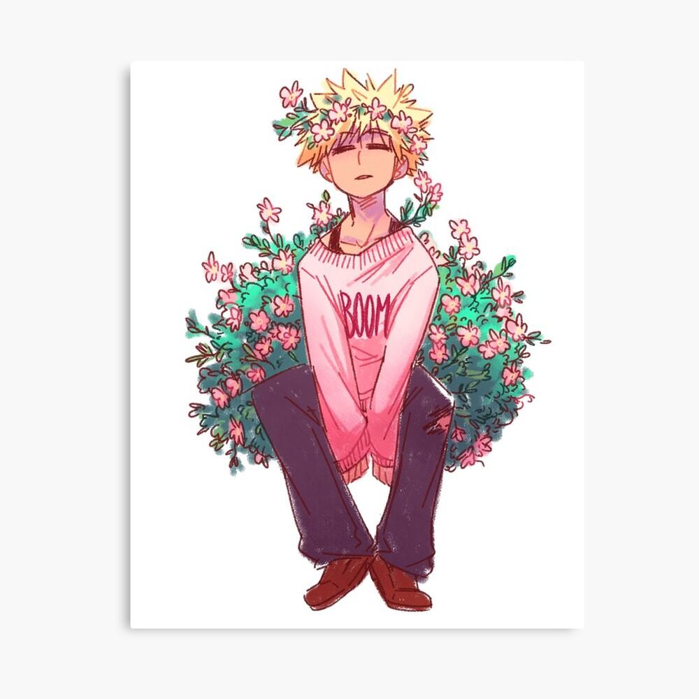 Bakugou in Pink Canvas Print
