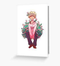 Bakugou in Pink Greeting Card