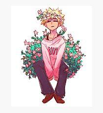 Bakugou in Pink Photographic Print