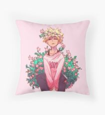 Bakugou in Pink Throw Pillow