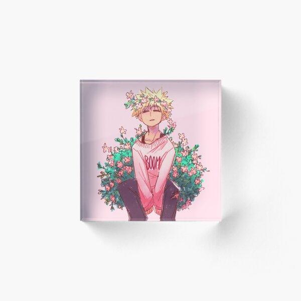 Bakugou in Pink Acrylic Block