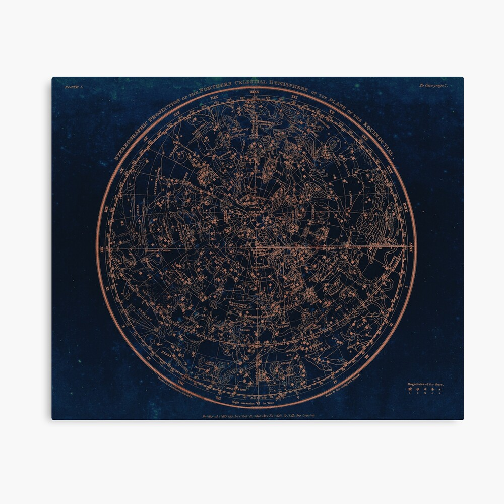 Constellations of the Northern Hemisphere Canvas Print