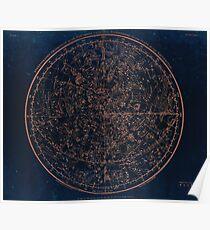 Sternbilder der nördlichen Hemisphäre Poster