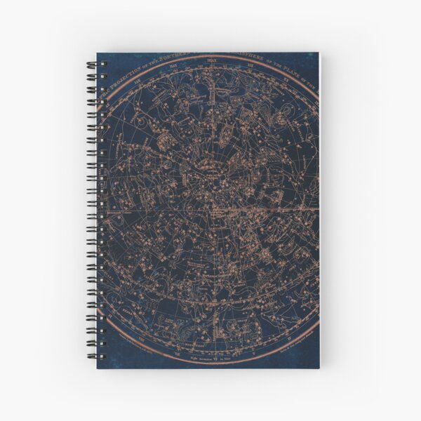 Constellations of the Northern Hemisphere Spiral Notebook