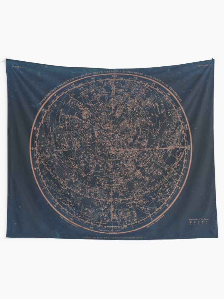 Alternate view of Constellations of the Northern Hemisphere Wall Tapestry