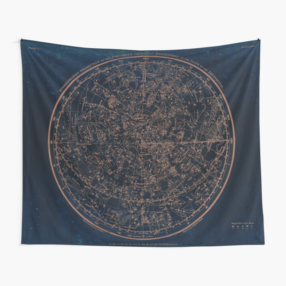 Constellations of the Northern Hemisphere Wall Tapestry