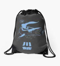 Xenacanthus, prehistoric Shark, River shark. Drawstring Bag