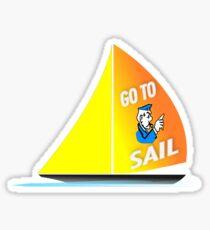 Go To Sail - Sailing Monopoly Cop - 02 Sticker