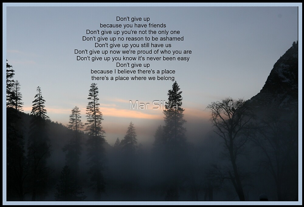 Don't Give Up by Mar Silva
