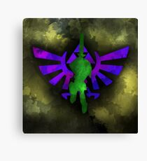 Lorule Link Video Game Watercolor Canvas Print