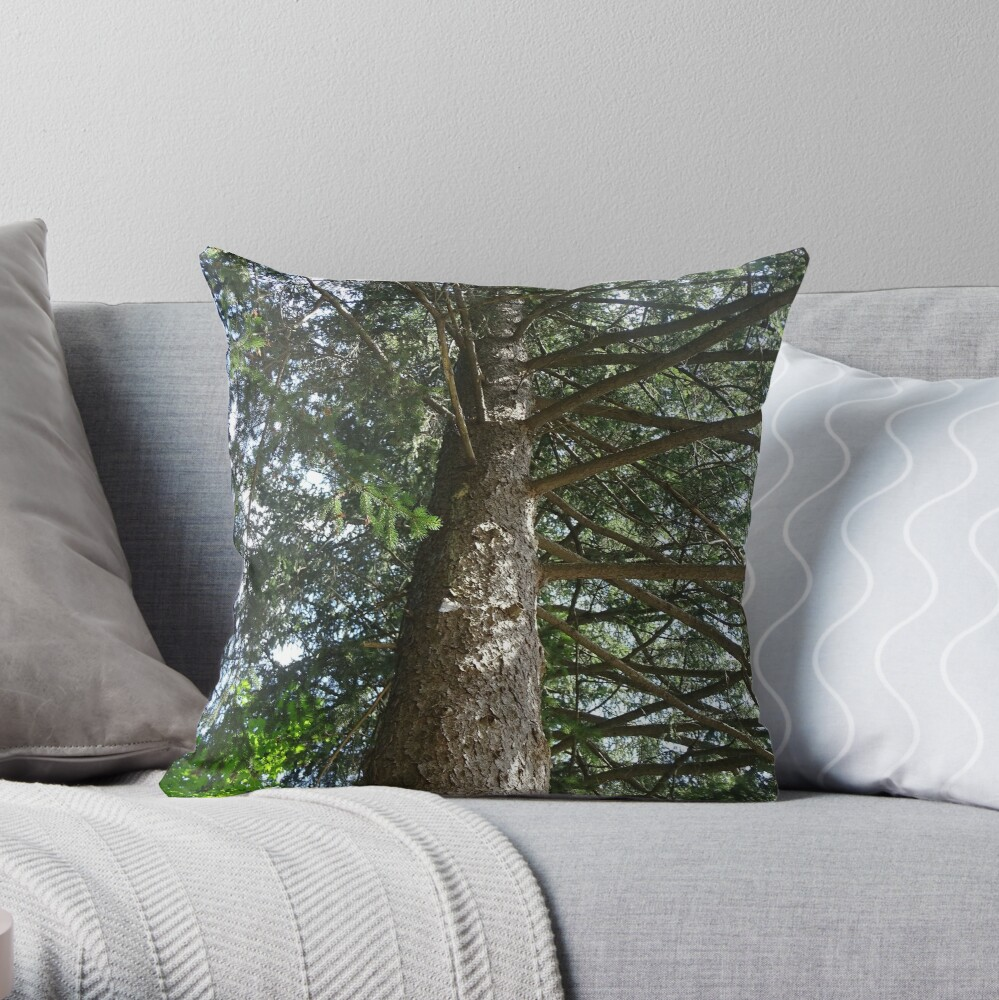 An old tree Throw Pillow
