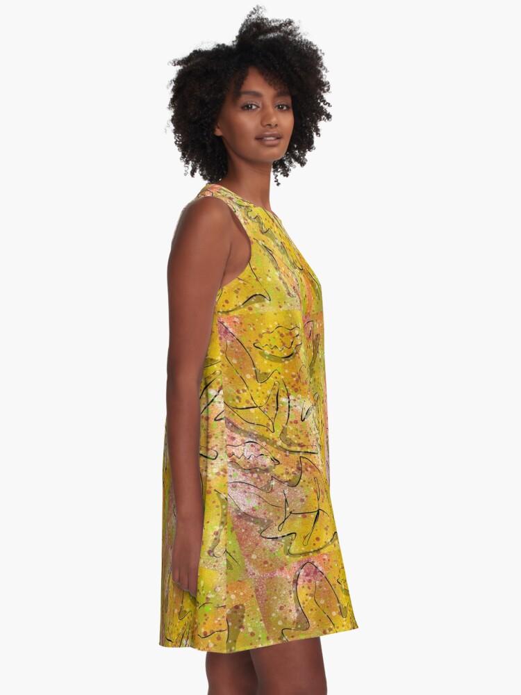Alternate view of Autumn Foliage A-Line Dress
