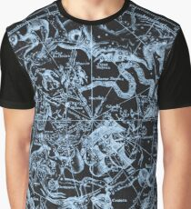 Zodiac Skies & Astrological Ties | Ice on Black Graphic T-Shirt