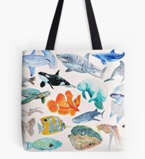A  Menagerie of Sea Creatures Tote Bag