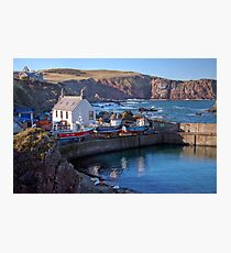Looking Over St Abbs Towards St Abb's Head Photographic Print