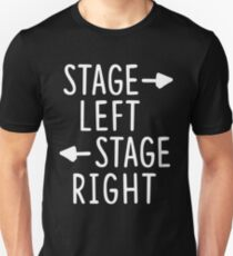 stage left stage right theatre shirt Slim Fit T-Shirt