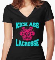 lacrosse Women's Fitted V-Neck T-Shirt