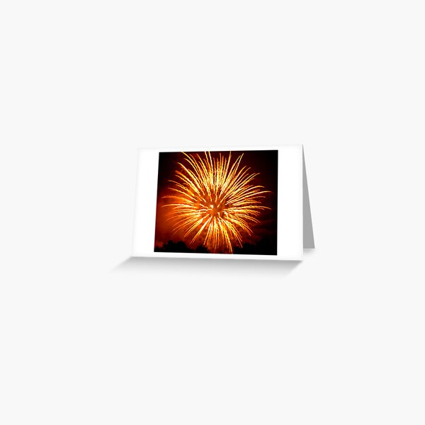 Fireworks - Sea Anemone Greeting Card