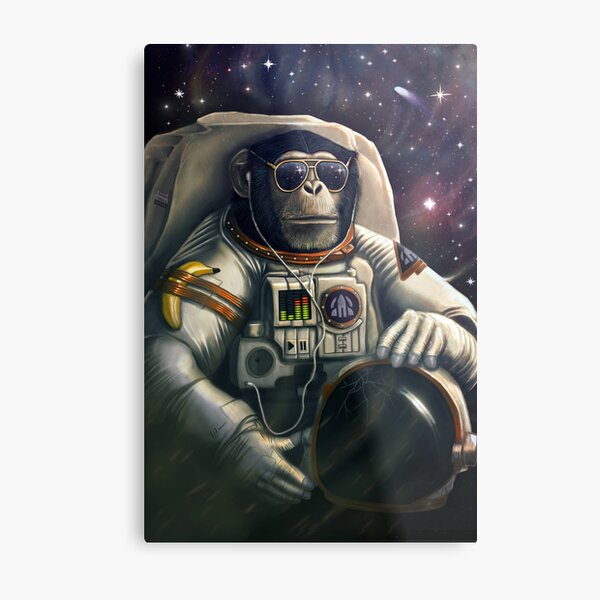 Space Farer Metal Print
