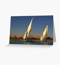 Fishing on Nile Greeting Card