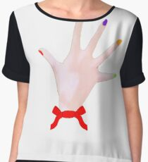 Dexter Hands Chiffon Top