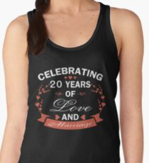 Best Gifts For 20 Years Wedding Anniversary. Amazing T-shirt For Couple Women's Tank Top