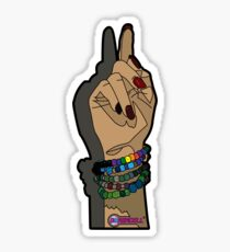 A Ravers Hand Sticker