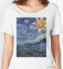 Pokemon Starry Night Solrock Women's Relaxed Fit T-Shirt