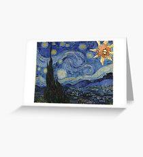 Pokemon Starry Night Solrock Greeting Card