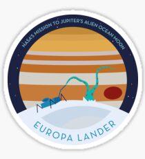 Europa Lander mission to Jupiter's icy ocean moon Sticker
