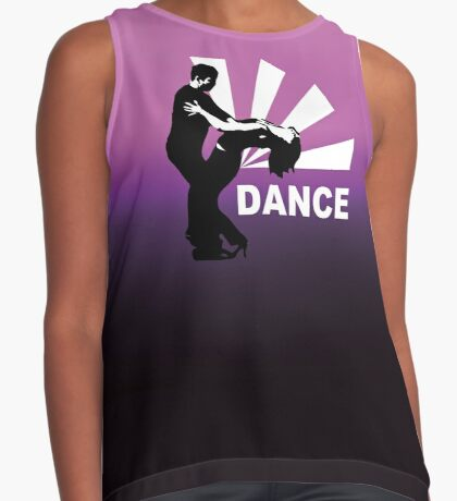 lets dance and have fun Contrast Tank