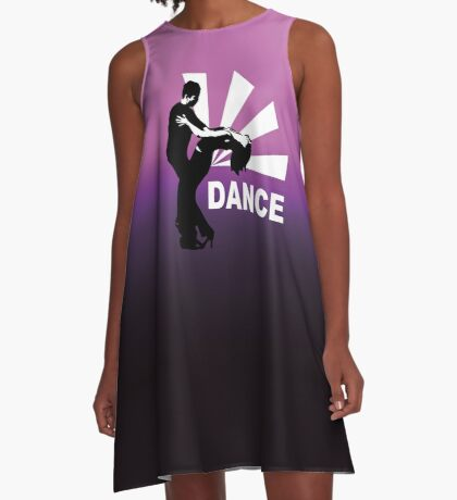 lets dance and have fun A-Line Dress