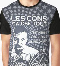 Lino Ventura Les Cons Ca Ose Tout Graphic T-Shirt