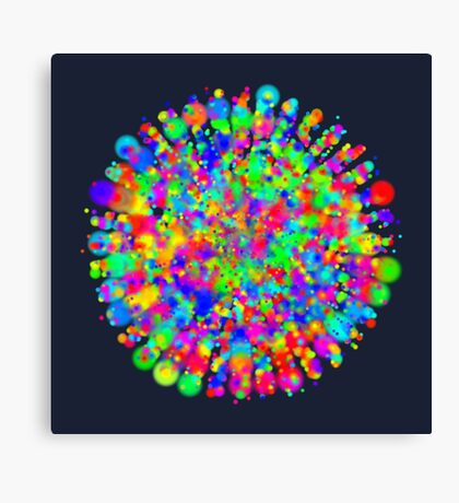 Space color splash Canvas Print