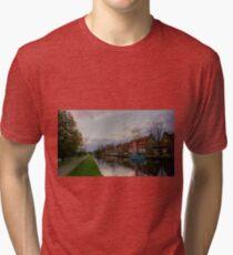 Amsterdam Canal Tri-blend T-Shirt