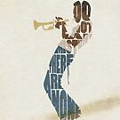 Typographic and Minimalist Miles Davis Illustration by A Deniz Akerman