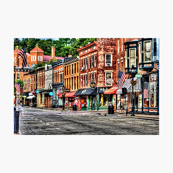 Galena Main Street Early Summer Morning Photographic Print