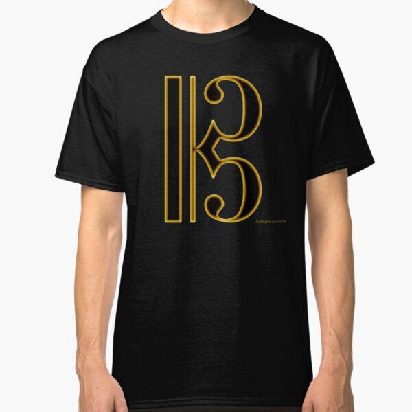 Gold Viola Clef Classic T-Shirt