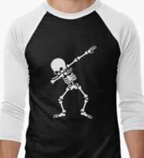 Dabbing skeleton (Dab) Men's Baseball ¾ T-Shirt