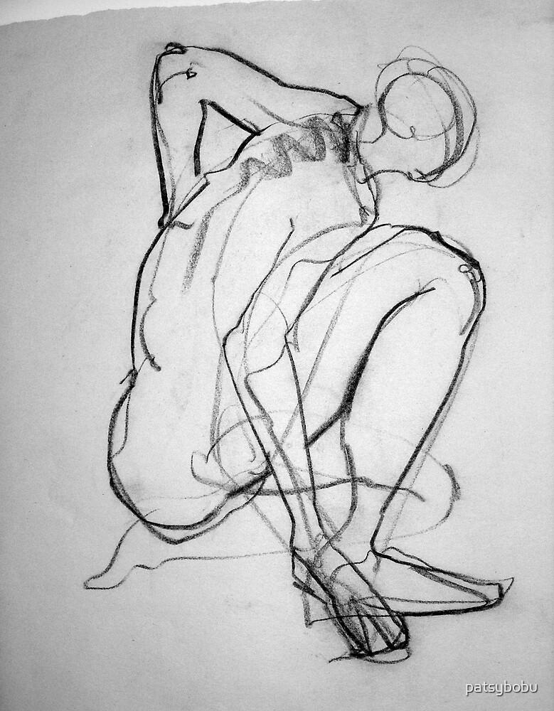 Sitting Croquis Man by patsybobu