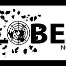 GLOBEXIT BLACK and WHITE Stickers by GLOBEXIT