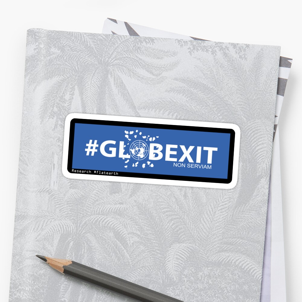 GLOBEXIT BLUE and WHITE Stickers by GLOBEXIT