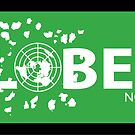 GLOBEXIT GREEN and WHITE Stickers by GLOBEXIT