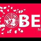 GLOBEXIT MAGENTA and WHITE Stickers by GLOBEXIT