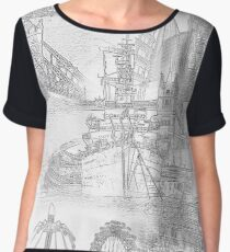 London Icons - Line Drawings Chiffon Top