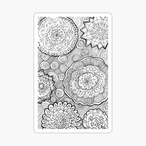 Zen Doodle Pattern Sticker