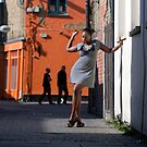 Down a side street.  by David Tovey