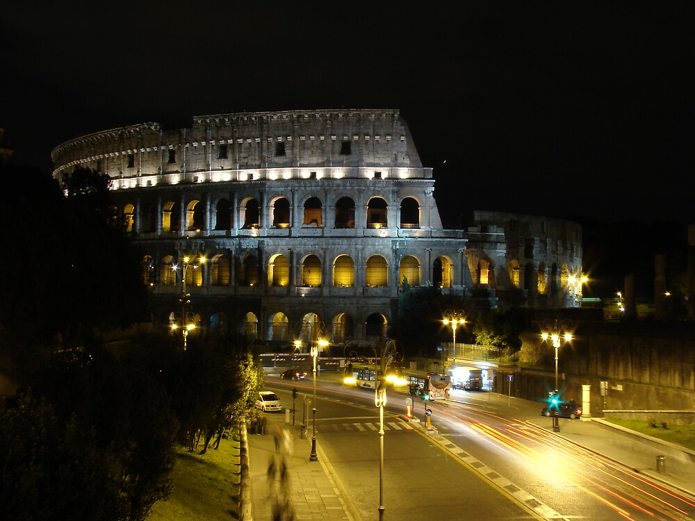 Colosseum at night by Kamila  Jerichow